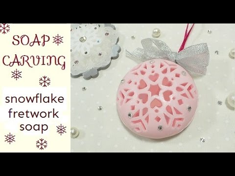 SOAP CARVING| Snowflake Fretwork| Tutorial | How to make |