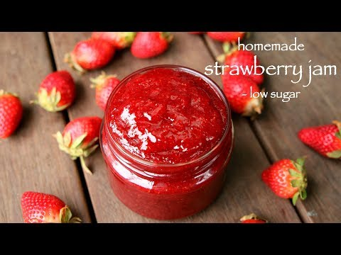 strawberry jam recipe | how to make homemade low sugar strawberry jam