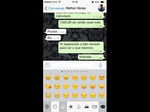 Caretinhas no Whatsapp iPhone (emoticons)