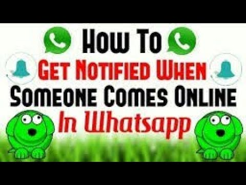 Whatsapp Trick - How to get notification when someone is online on whatsapp🔥 |2018|.