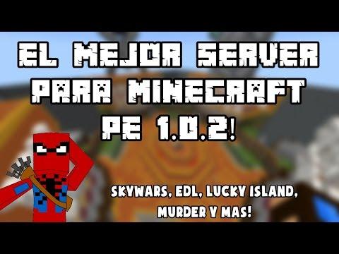 El mejor server para Minecraft pe 1.1   Lucky island, Murder, Skywars y mas!