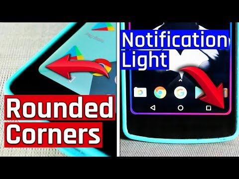 Rounded Corners & Notification Light on Any Android Smartphone without Root || Android Mods #2 ⚡⚡🔥🔥