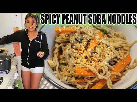 SPICY PEANUT SOBA NOODLES! (FAST EASY RECIPE) - #TASTYTUESDAY