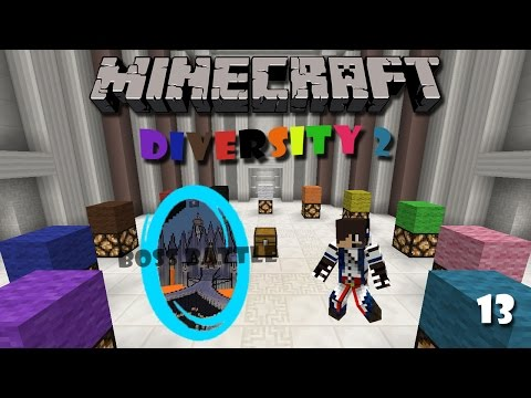 Minecraft Map : Diversity 2 (Part 13) - Boss Battle Branch