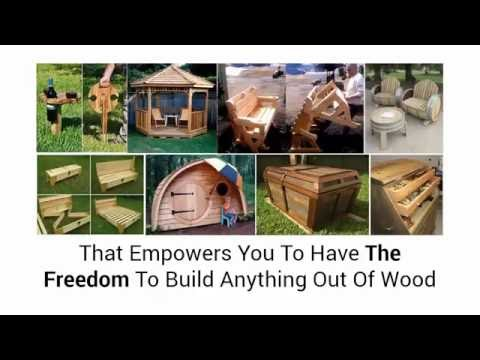 DIY wood projects 2016. How to make a chair, desk, bookshelf, birdhouse, etc with detailed plans