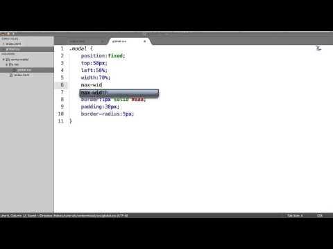 Style A CSS Modal/Lightbox Window