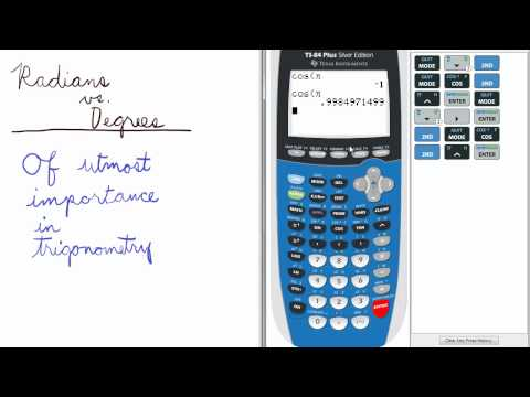 Mode 3 (Radians, Degrees, Gradient)   TI 84 Calculator    Mode