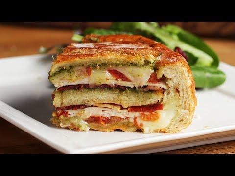 12 Layer Turkey Pesto Panini Bread Bowl