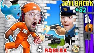 ROBLOX JAILBREAK! FGTEEV Escapes Jail @ 3am! Corrupt Cop Chase & Baby Shawn! Best Prison Ever (#32)