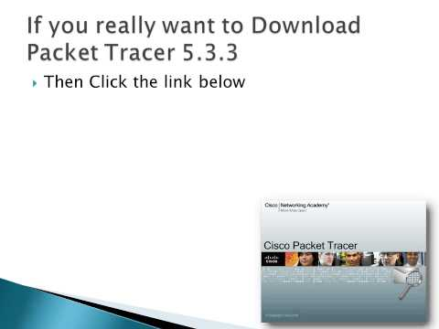 Download Packet Tracer 5.3.3