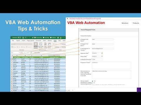 VBA and Web. How to find Web Documents and Elements attribute and Control them