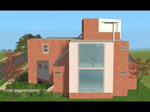 ♢ The Sims 2 ♢ Modern Brick House ♢ Glass Roof ♢