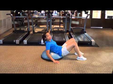 Golf Core Exercises - Ab Crunch on Bosu Ball Balance Trainer