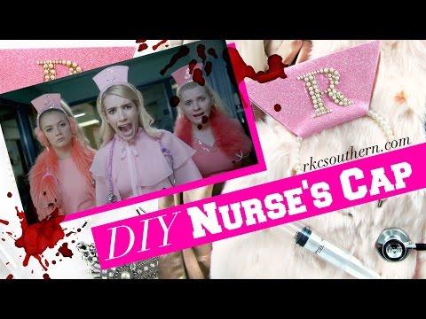 Scream Queens Hospital Chanel Oberlin Nurse's Hat DIY Tutorial!