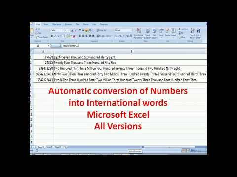 Automatic conversion of numbers into words in MS Excel any currency - add a new formula in excel