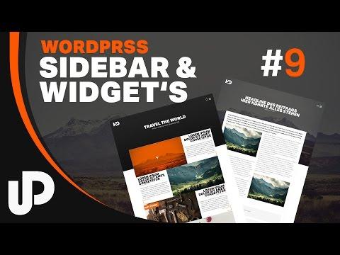 #9 Wordpress Tutorial wie nutze ich Widgets & Sidebar [Tutorial]