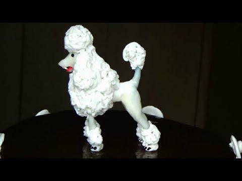 Cake Figurine.  Fondant Poodle Cupcake Topper. White Poodle Figurine Cake Topper Tutorial.
