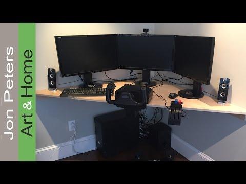 How to Build a Corner Desk for a Flight Simulator
