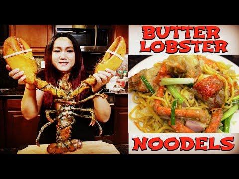 វិធីធ្វើម្ហូបខ្មែរ- ឆាបង្កងយក្ស GIANT BUTTER LOBSTER NOODLES!!