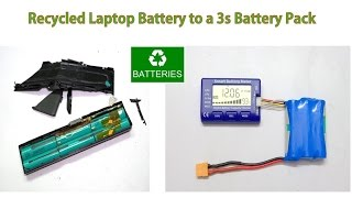 Recycled Laptop Battery to 3S - 18650 Battery Pack