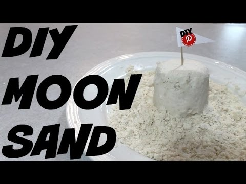 DIY Moon Sand - DIY Pinterest