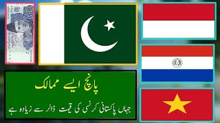 Top 5 Countries Where Pakistani Currency Value Higher Then US Dollar