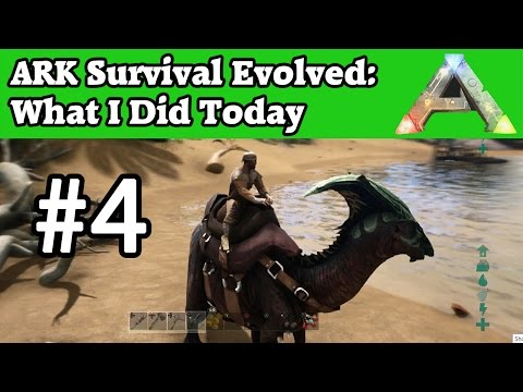 Taming Parasaur with Tranq Arrows & Narcotics - Ark Survival Evolved #4