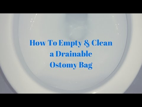 How to empty and clean an ostomy bag: OSTOMY TIPS
