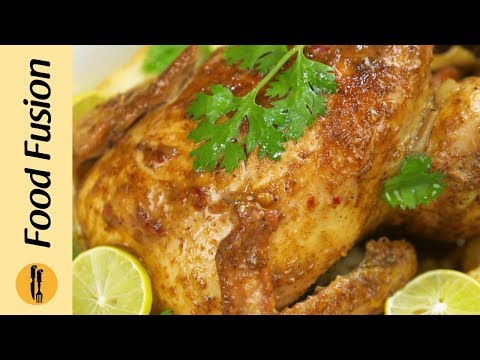Whole Chicken Roast without Oven Recipe By Food Fusion