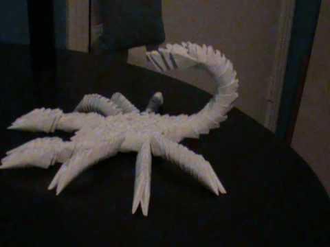 3d origami scorpion prototype