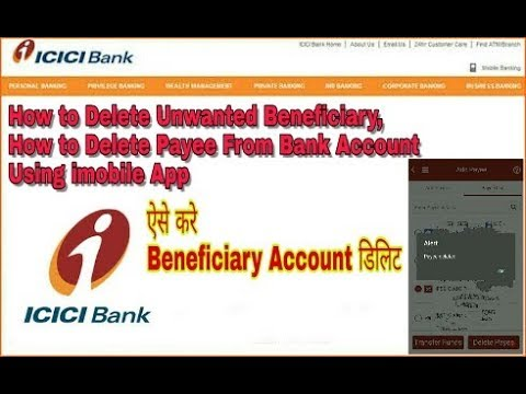 How to Delete Unwanted Beneficiary From Bank Account, How to Delete Payee Using imobile App