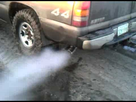 Cleaning out the exhaust pipes
