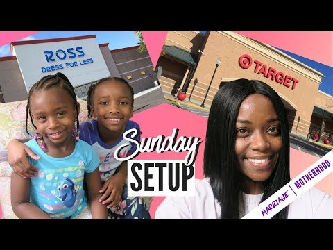 SUNDAY SETUP | SHOP WITH ME | CURLY KIDS HAIR ROUTINE | WORKING MOM ROUTINE
