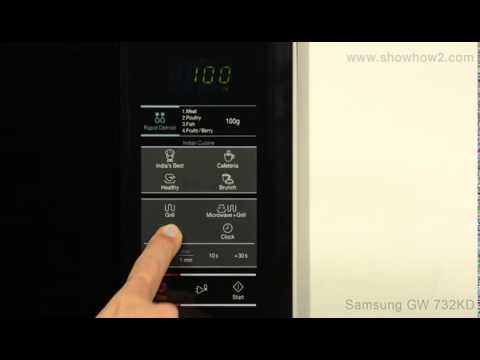 Samsung Gw732kd B Grill Microwave Oven How To Set Up Microwave Cooking