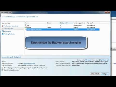 How to Remove Babylon Search Engine