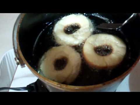 Making homemade cake donuts!!!.