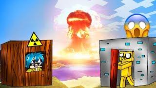 MINECRAFT ⚠ RETO DE LA BASE VS BOMBA NUCLEAR 💥😱 ¿DESTRUIRÁ LA CIUDAD?