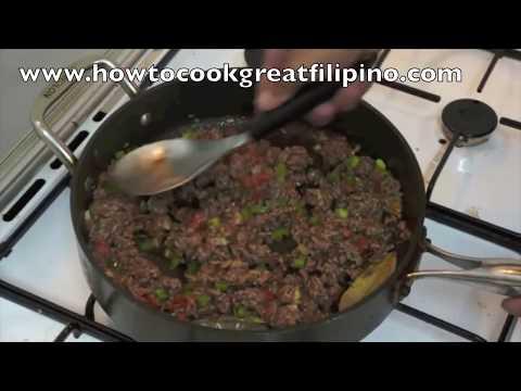 Giniling na Baka Filipino Recipe Pinoy Minced Beef