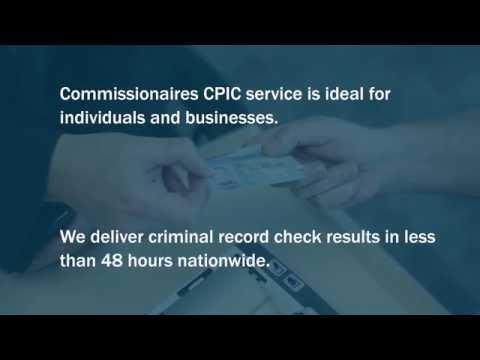 Commissionaires Fingerprinting and Identification Services (Individual Security)