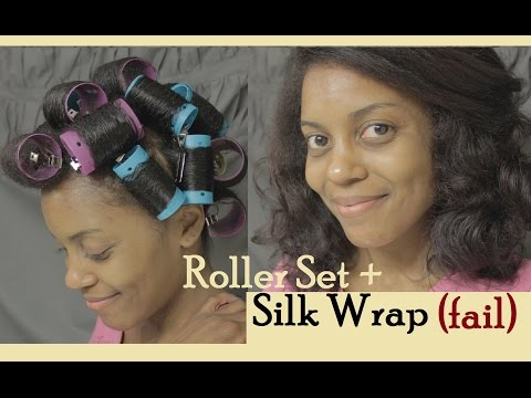 Roller Set + Silk Wrap (fail)