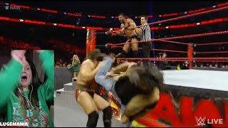 WWE Raw 1/9/17 Big Cas vs Jinder