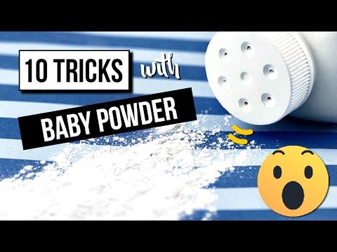 TOP 10 BABY POWDER Life Hacks 🤓 Amazing TRICKS with baby powder 👶