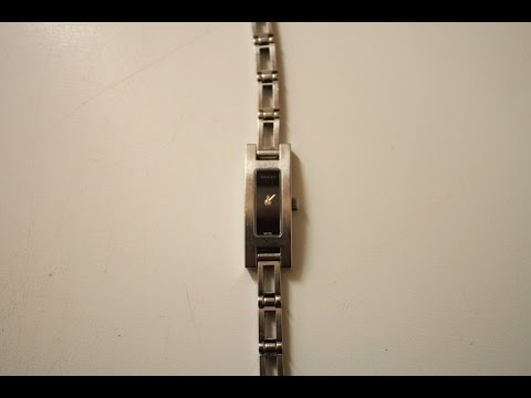 How to remove links from Gucci 3900L watch