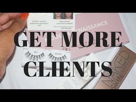 How To Get More Clients Today- New Makeup Artist