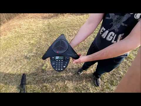 Trap Skeet shooting with a Polycom SoundStation Boomerang