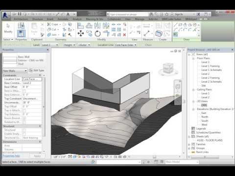 REVIT CONCEPUTAL MASSING 04 WALL ROOF BY FACE