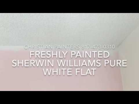FRESHLY PAINTED SHERWIN WILLIAMS PURE WHITE FLAT