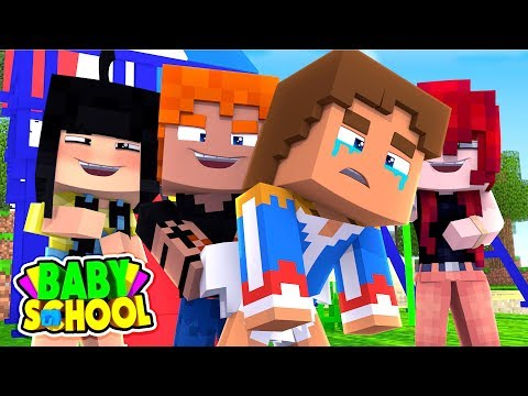 Minecraft BABY SCHOOL || BABY DONNY GETS A WEDGIE FROM SCHOOL BULLY || Minecraft Roleplay