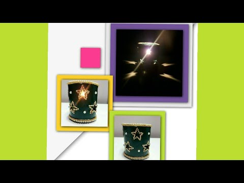 Tealight candle holder | Diwali and Christmas home decoration | DIY