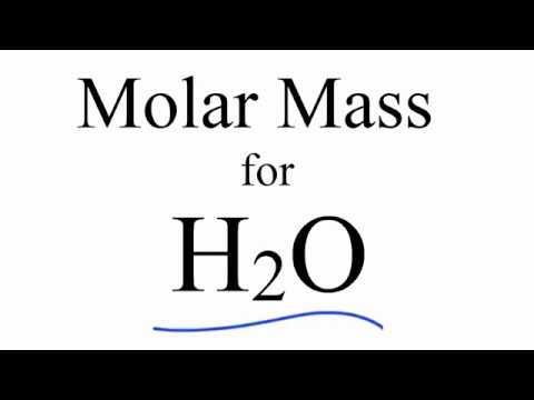 Molar Mass / Molecular Weight of H2O: Water